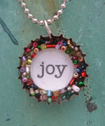 joy bottlecap necklace