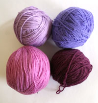 four balls of yarn