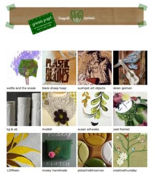 Green Pop Shop at Poppytalk Handmade