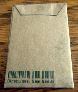 Seed Packet Back