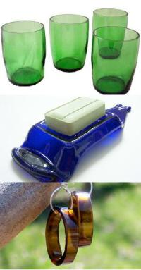 recycled glass objects