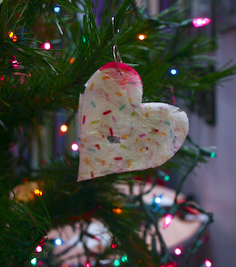Ironed Plastic Ornament on the Tree