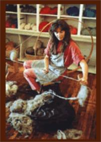 Spinning Churro Wool