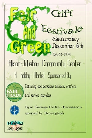 Fair and Green Gift Festival Poster