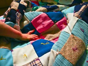 Nana's polyester nine-patch