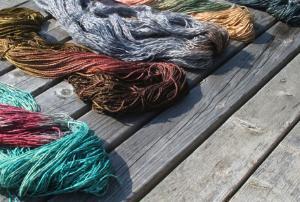 Sea silk yarn