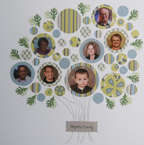 Paper Scrap Family Tree
