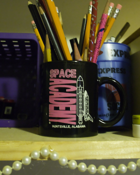 mug holds pencils