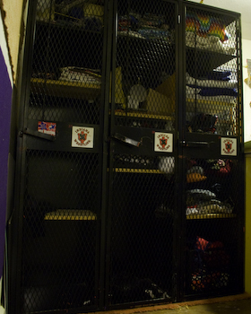 lockers hold big stuff