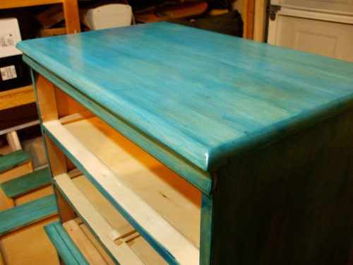 dresser stained