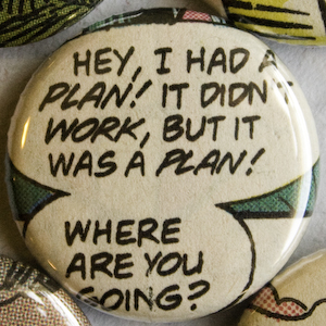 Comic Book Pinback Button