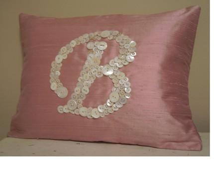 Vintage Monogram Pillow