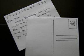 Notecard as Postcard