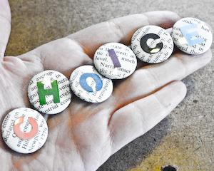 CHOICE pinback buttons