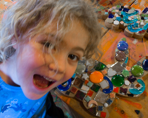 Mosaics at the Hands On Art Studio