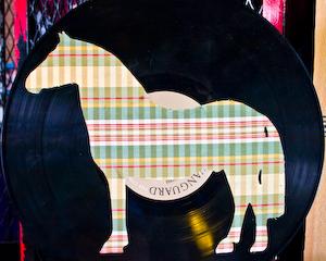 Horse applique on vinyl record album