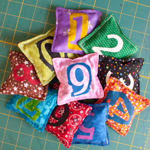 Set of Numbered Bean Bags