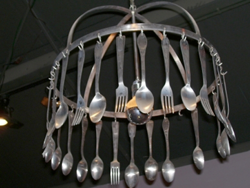 Silverware Chandelier by Artefact