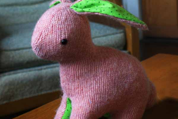 Recycled Sweater Bunny