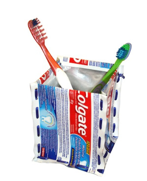 Make this upcycled toothbrush holder!