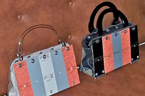 Purses Made from Formica Countertop Samples