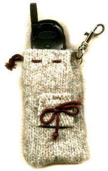 cell phone cozy made from old sweater