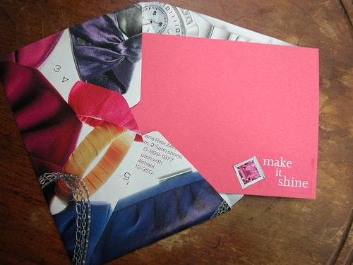 magazine page envelope