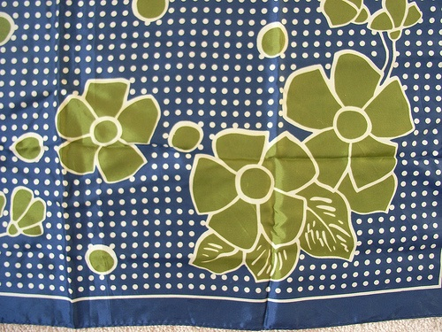 vintage silk scarf pillow