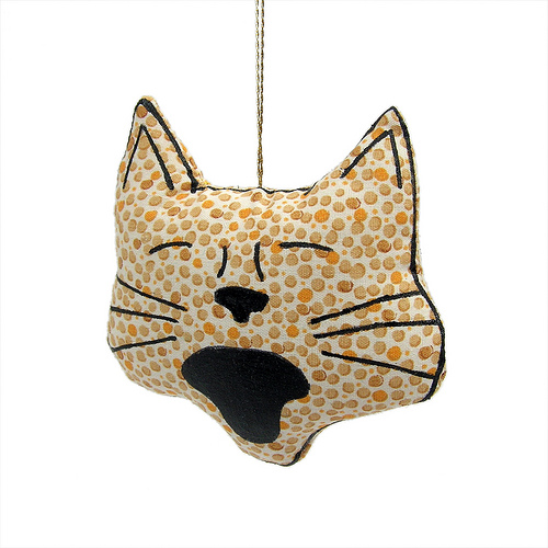 Handmade cat ornament