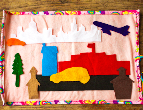 Crafting with recycled felt is a great way to lighten your DIY footprint.