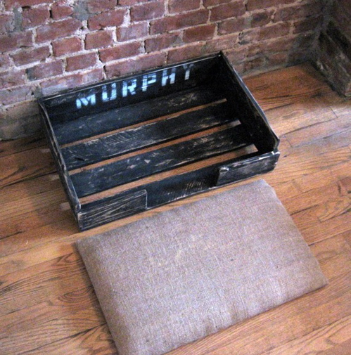 reclaimed wood dog bed