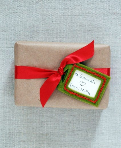 felt gift tags