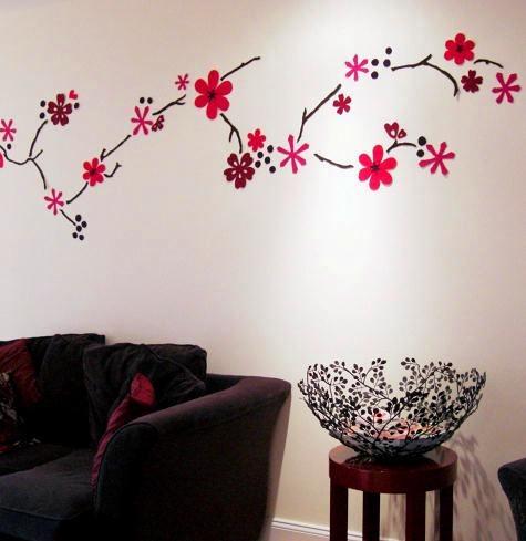 hand cut felt wall mural