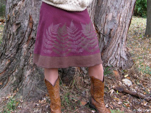 Hemp and organic cotton skirt from Noonday Textiles