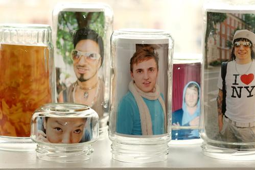 glass jar frame