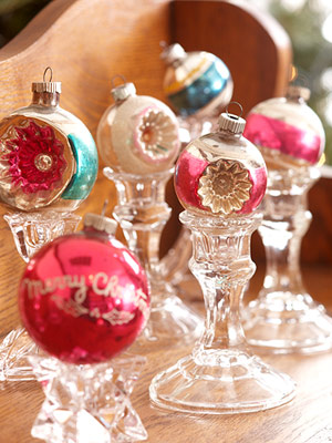 ornaments and candlesticks