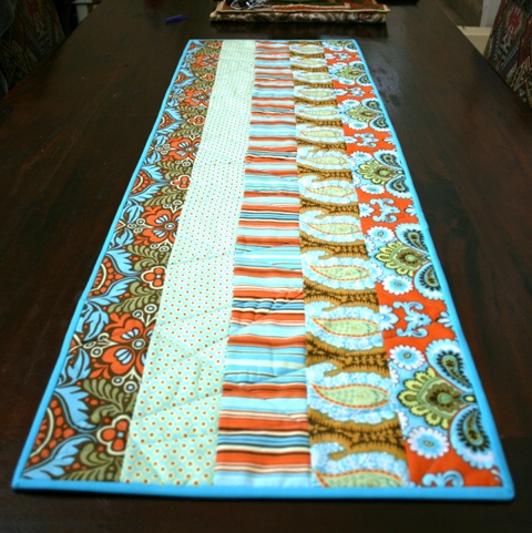 Handmade, quilted table runner.