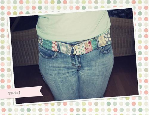 fabric scrap belt