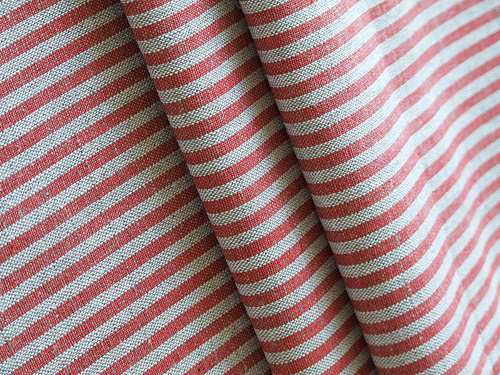 Red striped linen from Linen Me