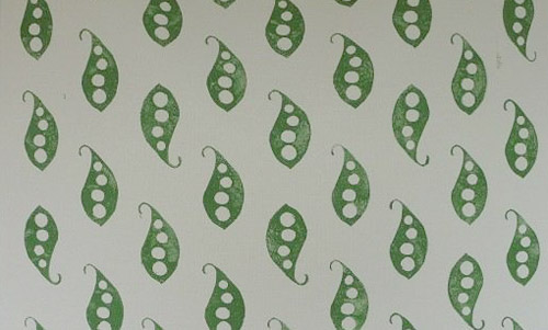 pea pod fabric by Australian artist BIRCHseed
