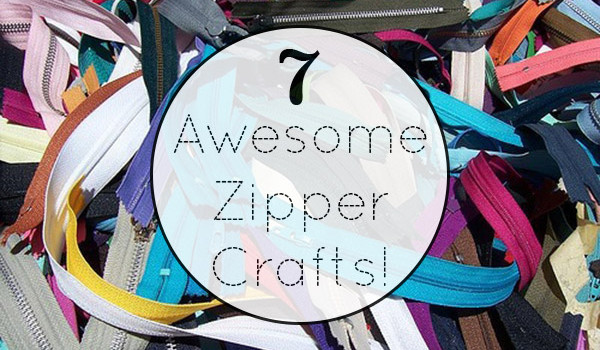 7 Crafts You Can Make Using Zippers - Take a new look at an old thrift store staple to create an array of accessories. Here are seven projects that you can whip up using zippers.