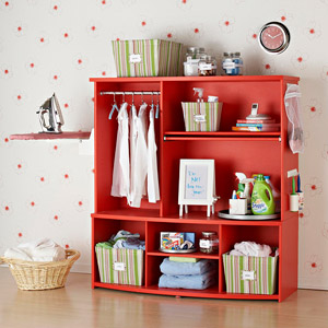 from BHG.com bookcase makeover