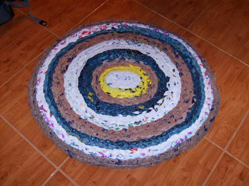 plastic bag rug
