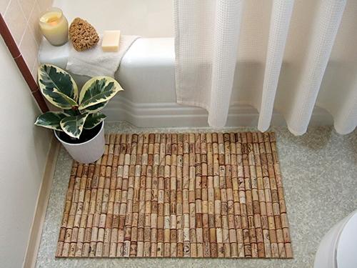 wine cork rug