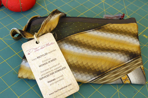 Wristlet from Atlanta company Ties That Matter