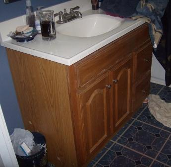 Redo Bathroom Cabinets Pleasing Bathroom Vanity Makeover  Crafting A Green World Decorating Design