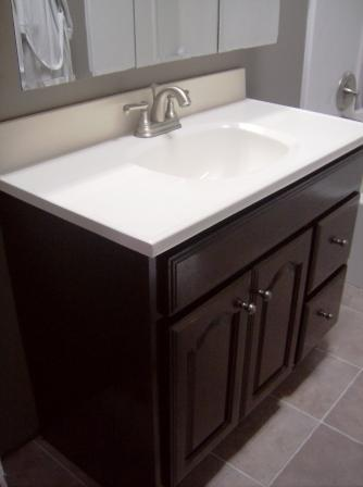 bathroom vanity makeover - crafting a green world