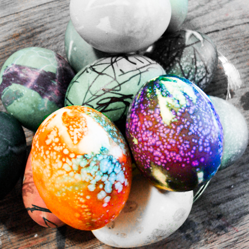Tie Dyed Easter Eggs Tutorial