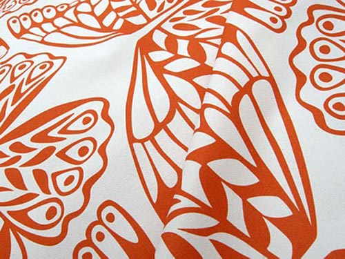 Moth Fabric by Betz White