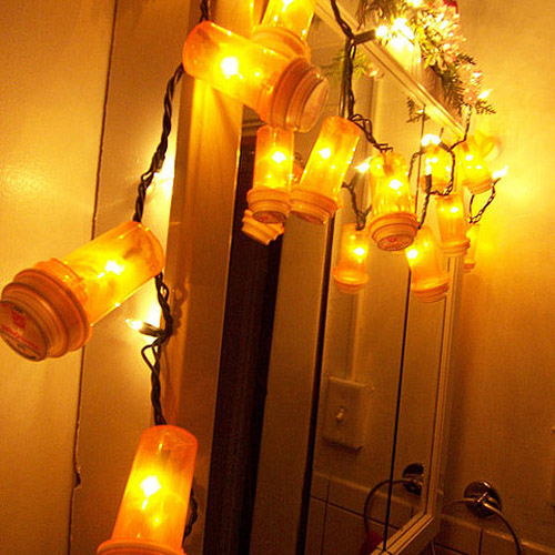 Pill Bottle Light String Garland | Uses for Empty Pill Bottles Around the House | DIY Projects